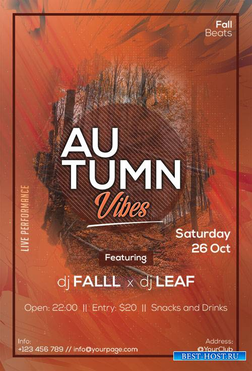 Autumn Vibes - Premium flyer psd template
