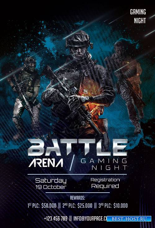 Battle Arena - Premium flyer psd template
