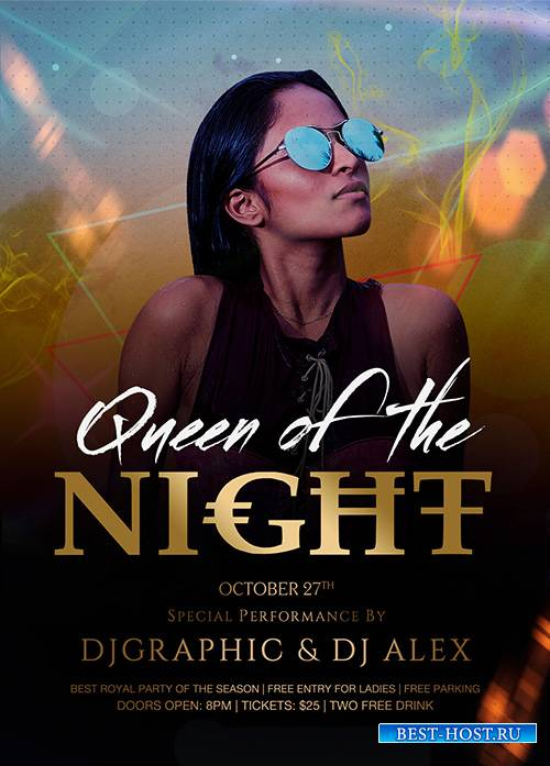 Queen Of The Night PSD Flyer Template