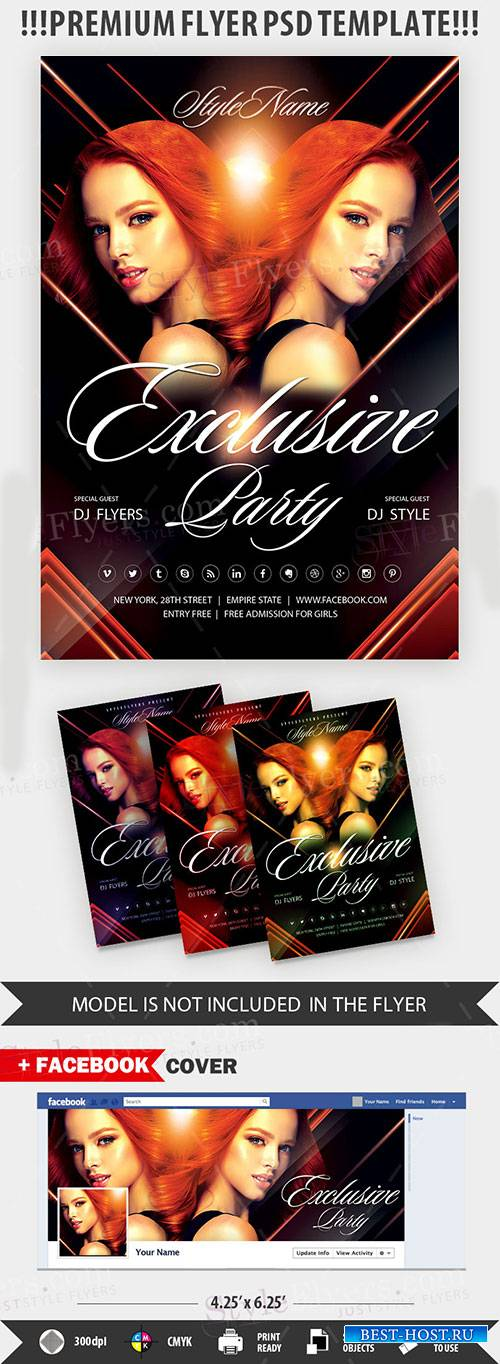 Exclusive Party Flyer PSD Template