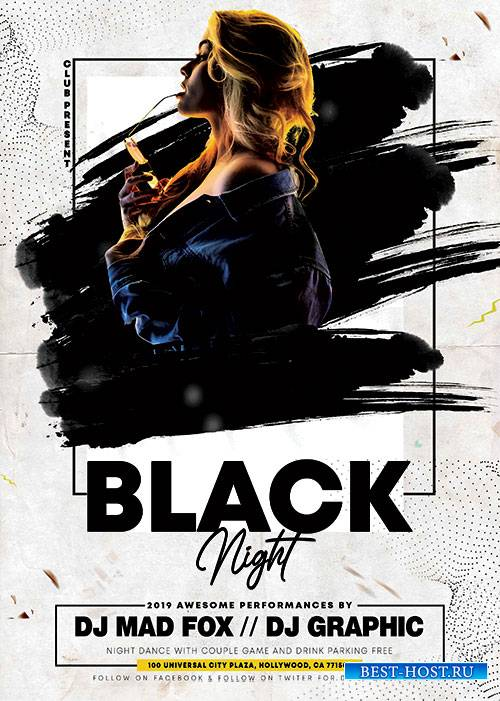 Black night party - Premium flyer psd template