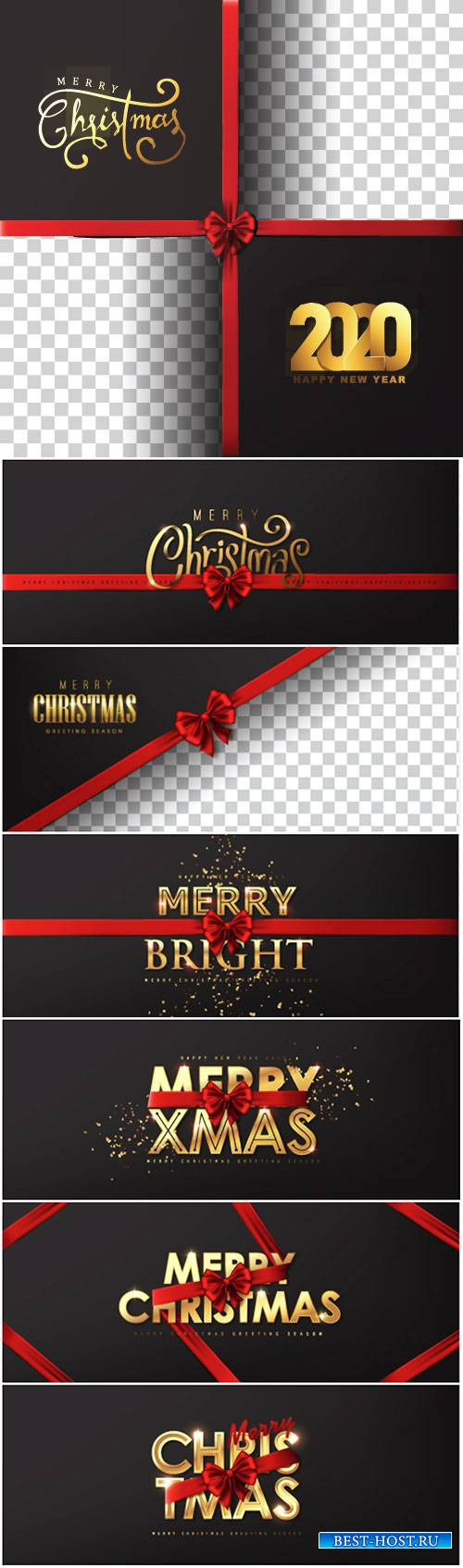 Calligraphic Merry christmas golden texture and realistic