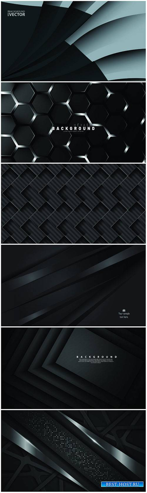 Abstract vector background with dark gray metal