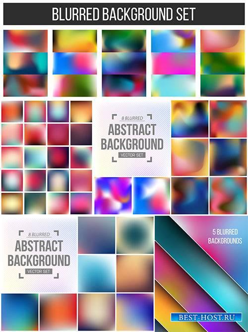 Разноцветные фоны - Векторный клипарт / Multi-colored backgrounds - Vector  ...