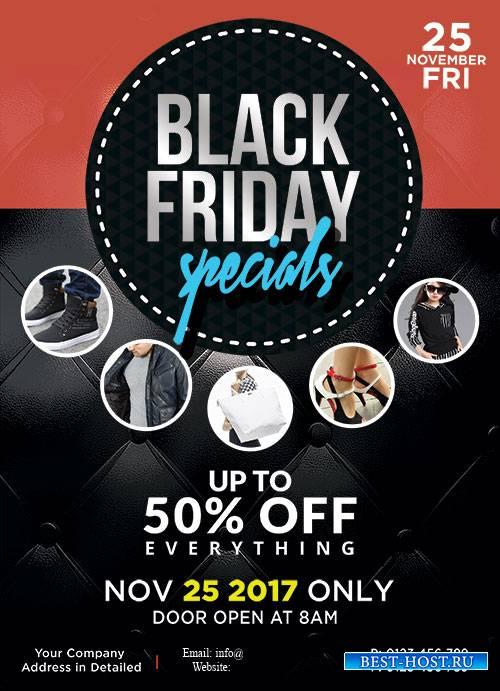 Black Friday Sale - Premium flyer psd template