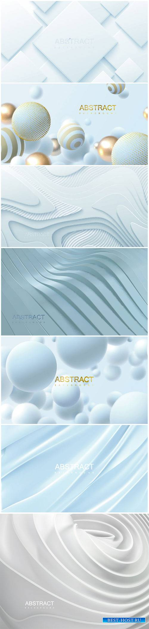 Realistic 3d vector background