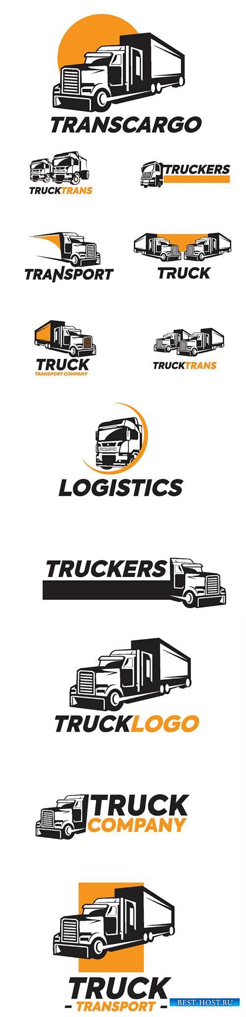 Truck logo vector illustration