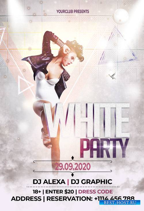 White Party - Premium flyer psd template