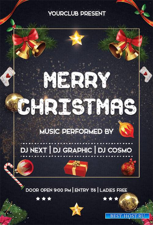 Merry Christmas - Premium flyer psd template