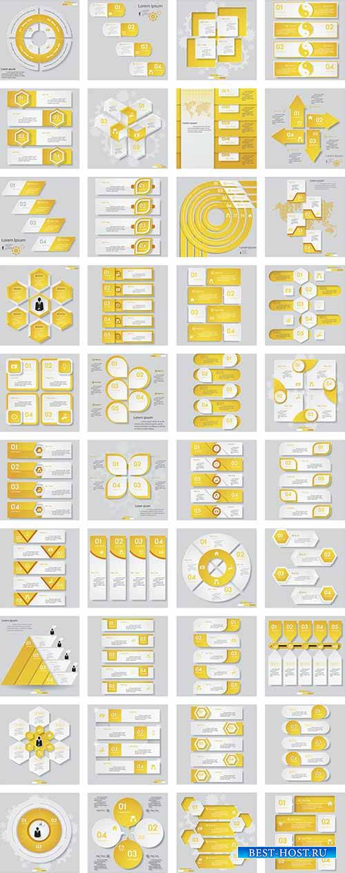 Инфографика - Векторный клипарт / Infographics - Vector Graphics