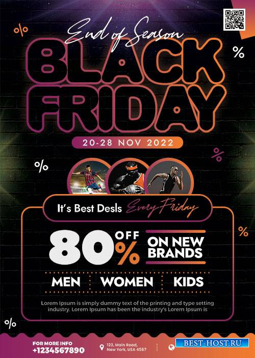 Premium Black Friday Sale - Premium flyer psd template