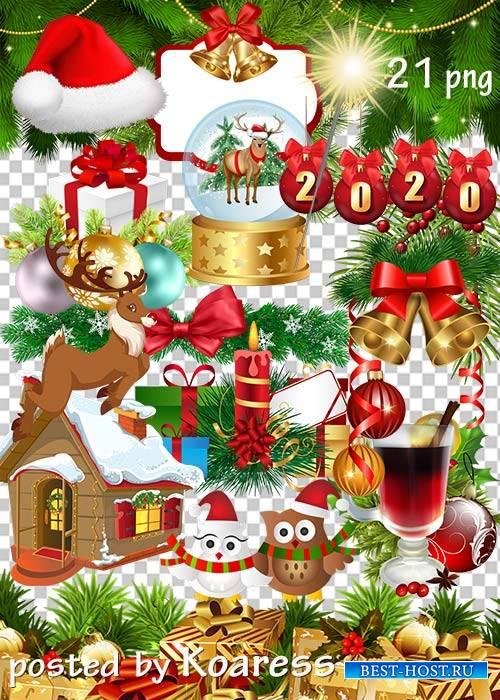 Клипарт в png - Новогодние украшения-3