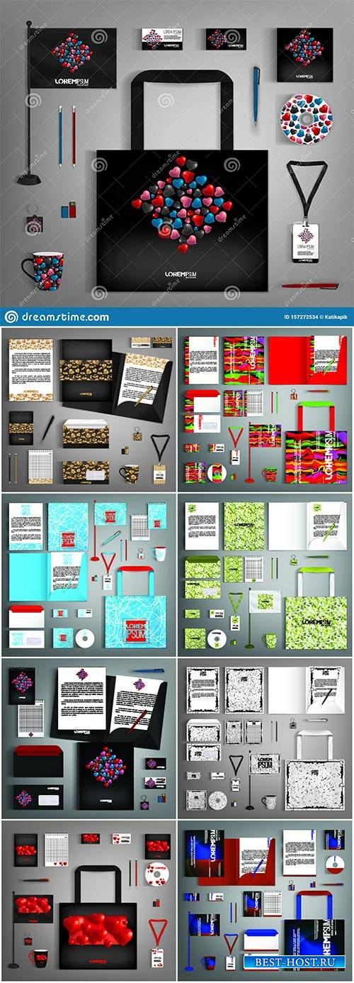 Corporate identity template with colorful design # 3