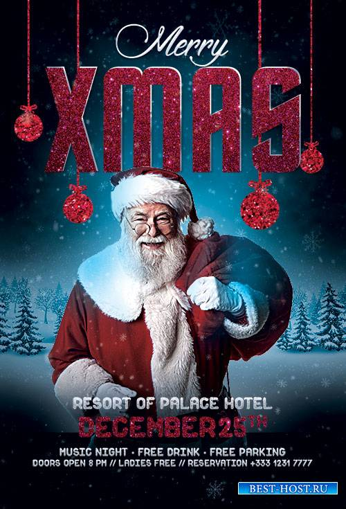 Santa Xmas - Premium flyer psd template