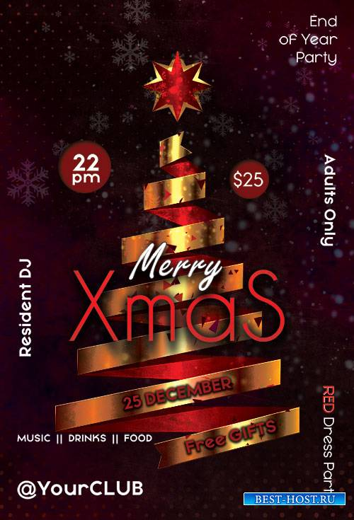 Merry Xmas - Premium flyer psd template