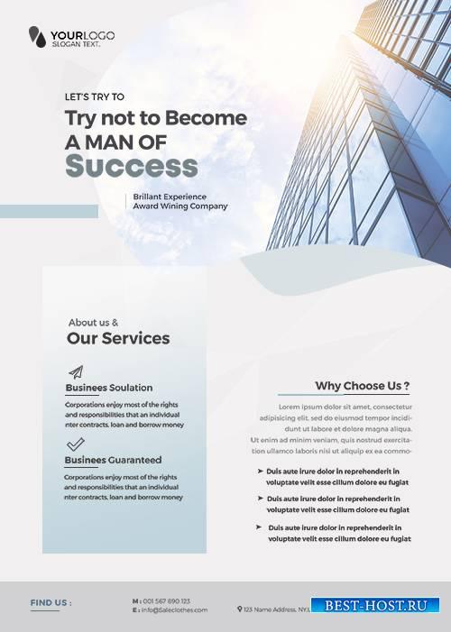 Main_Files Clean Corporate - Premium flyer psd template