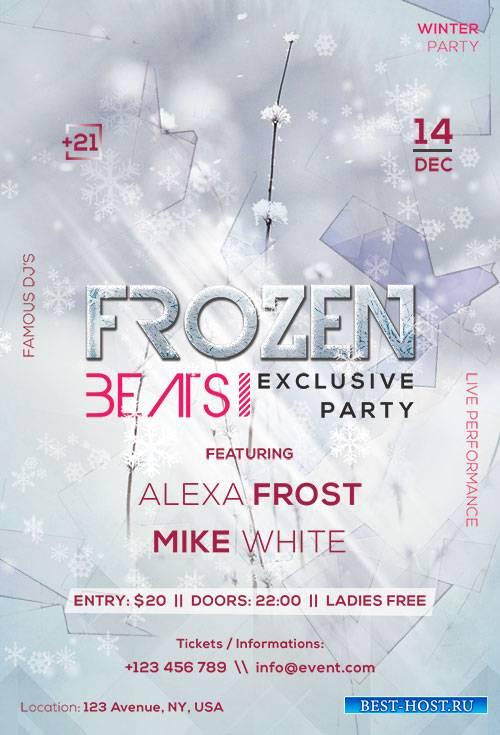 Frozen Beats - Premium flyer psd template