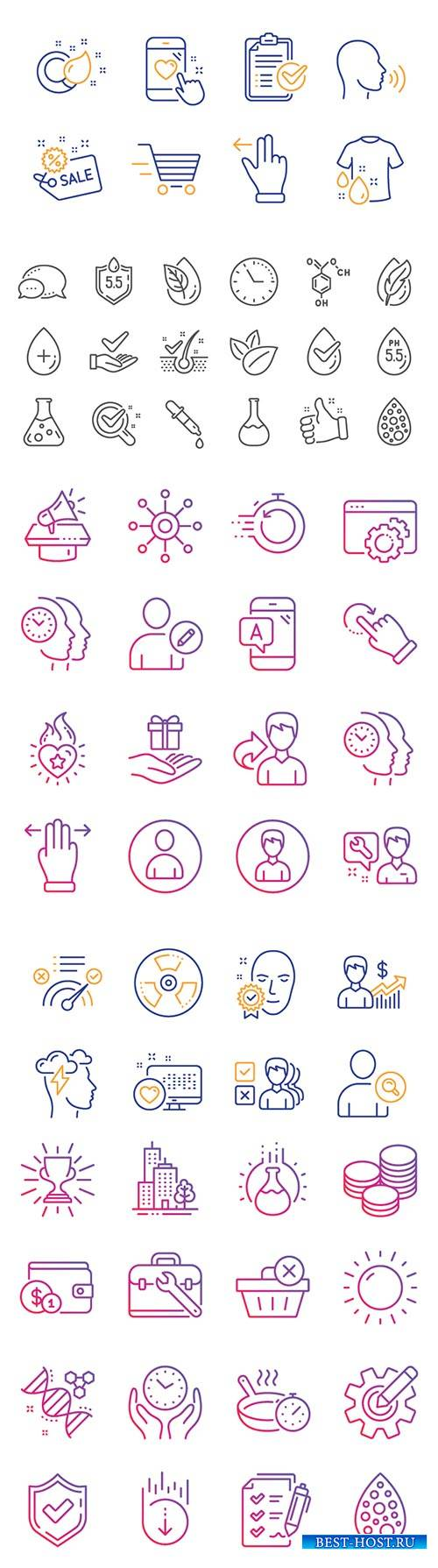 Business vector icons set
