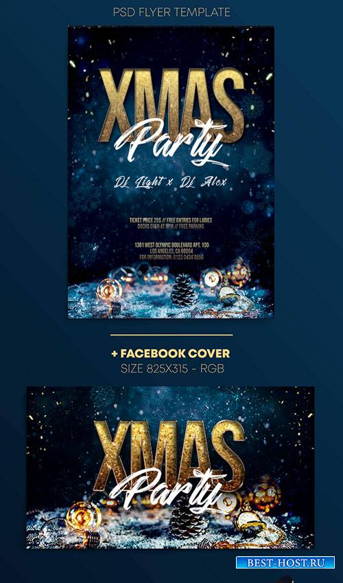 XMas Night - Premium flyer psd template