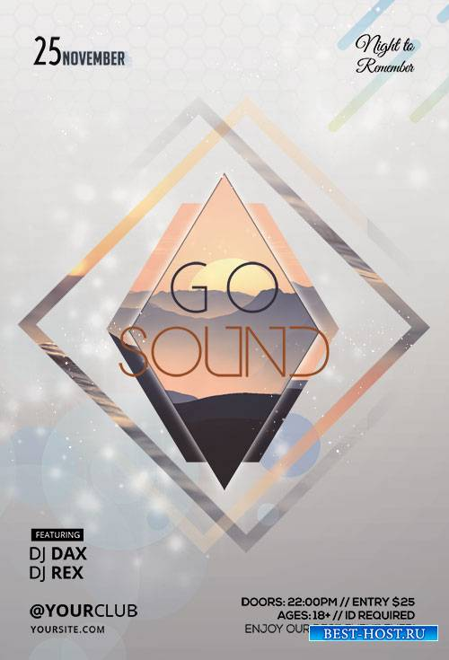 Go Sound - Premium flyer psd template