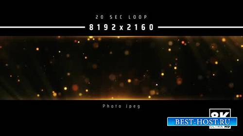 Videohive - Abstract Gold Particles 8K - 24999557