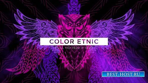 Videohive - Color Etnic VJ Loops Background - 24990259