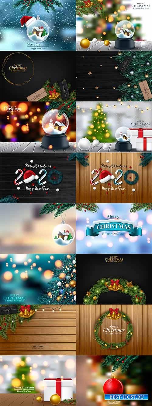 Новогоднее ассорти 2 - Векторный клипарт / Christmas pictures 2 - Vector Graphics