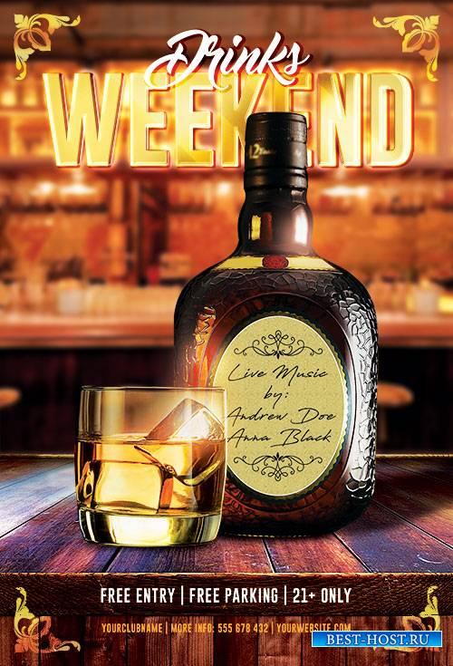 Drinks Weekend - Premium flyer psd template