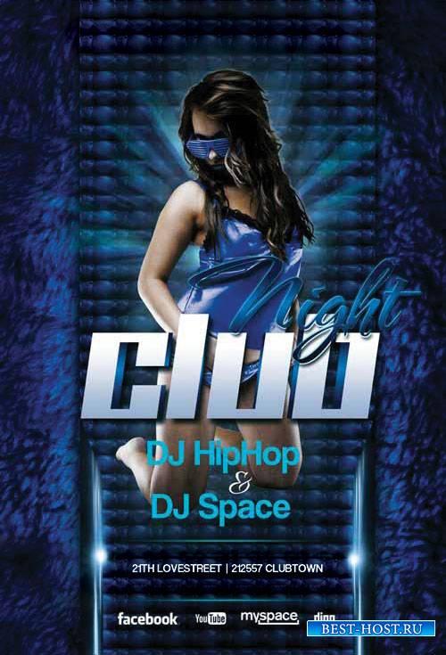 Future Night club - Premium flyer psd template