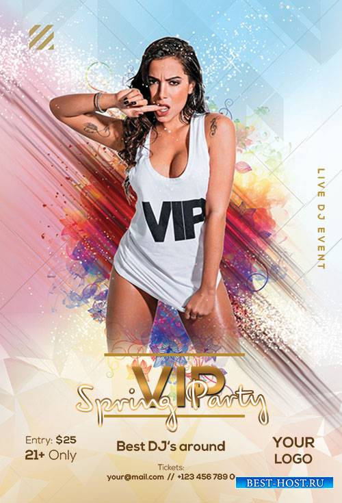 VIP Spring Party - Premium flyer psd template