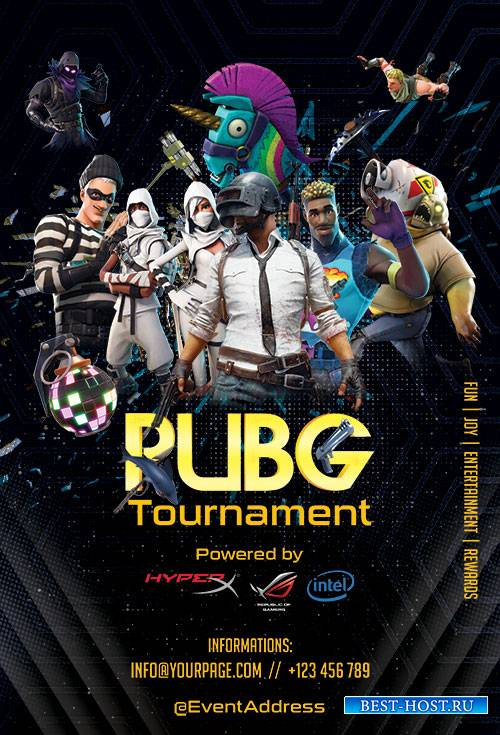 PUBG Tournament - Premium flyer psd template