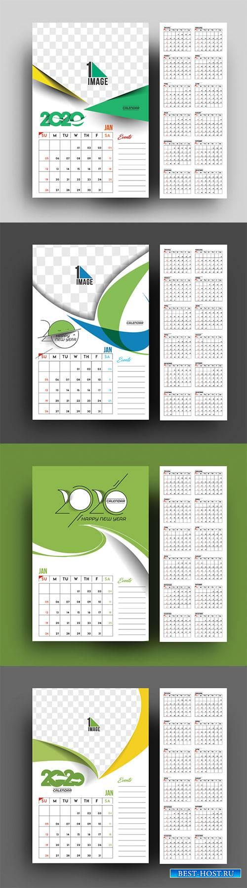 Happy new year 2020 Calendar # 4