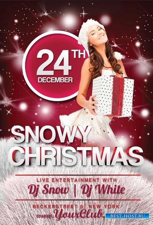 Snowy Christmas - Premium flyer psd template