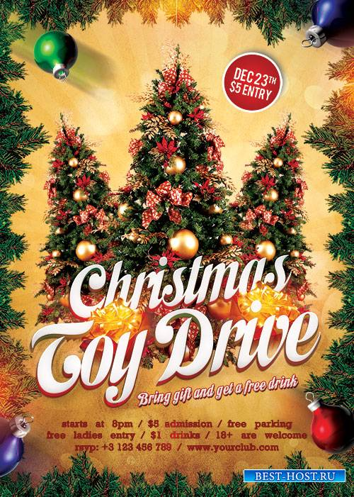 Toy drive - Premium flyer psd template
