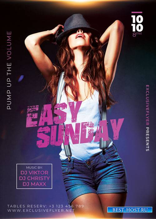 Easy sunday night - Premium flyer psd template