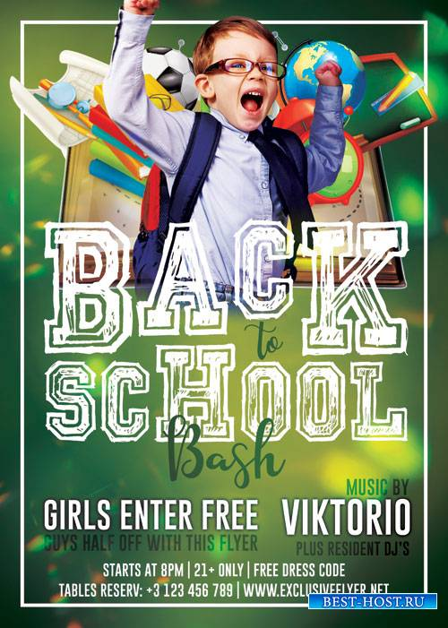 Back to school bash - Premium flyer psd template