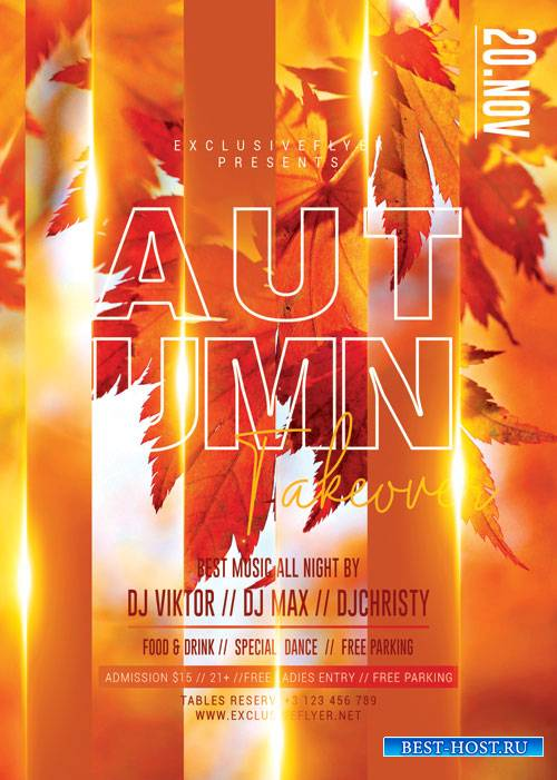 Autumn takeover - Premium flyer psd template