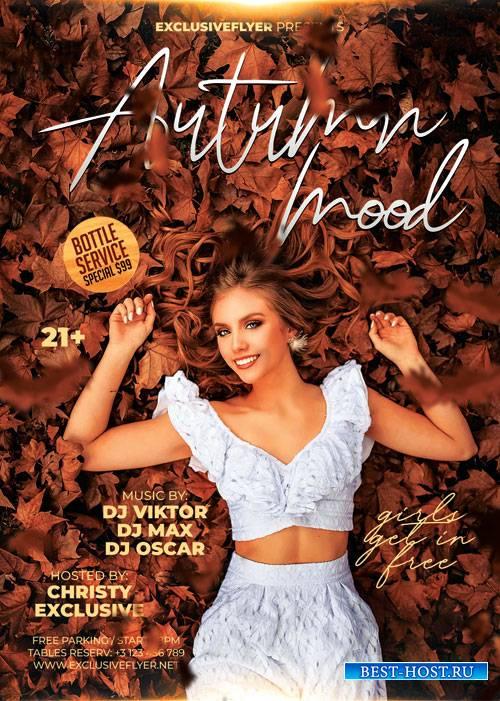 Autumn mood - Premium flyer psd template