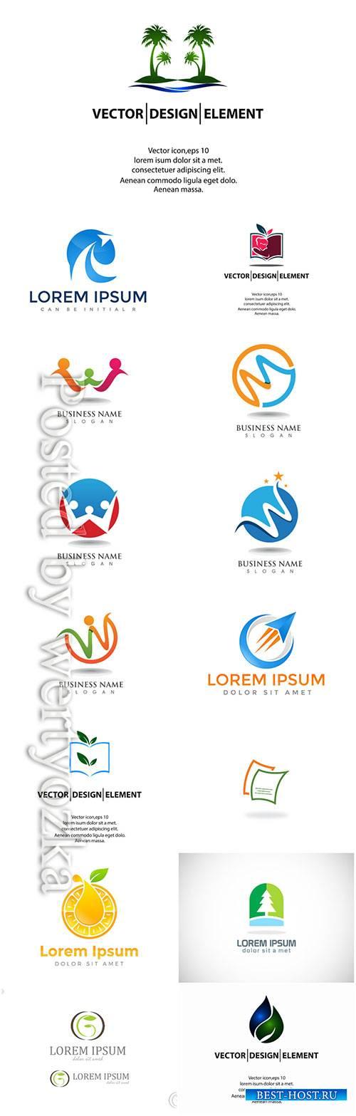 Logos set, business vector # 6