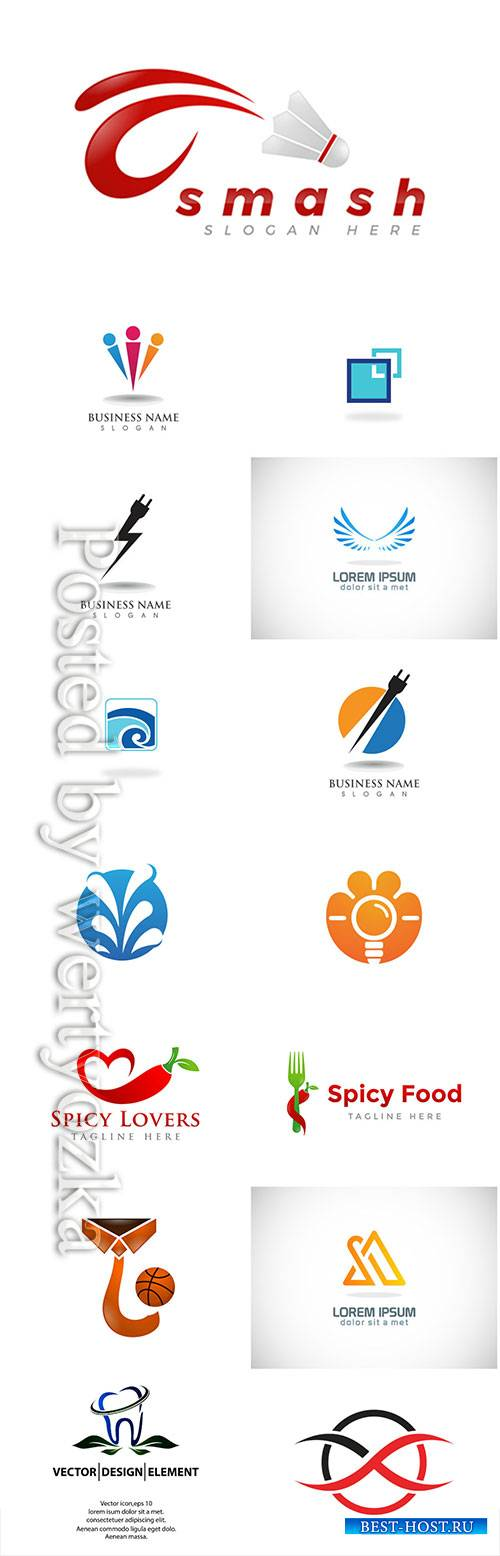 Logos set, business vector # 10
