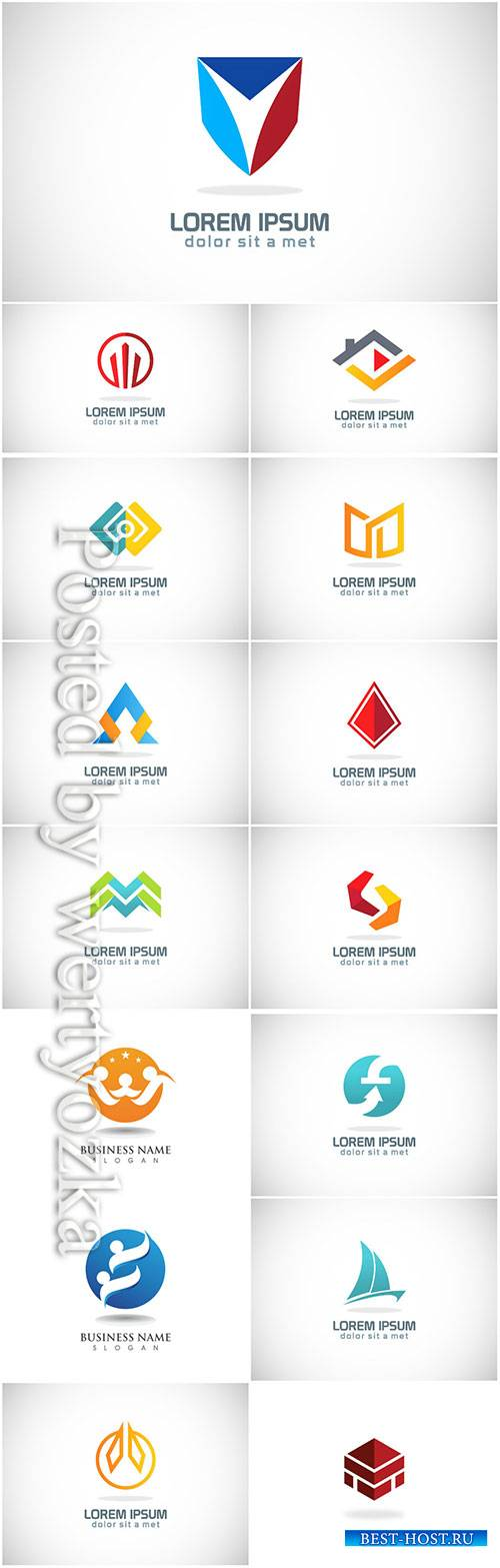 Logos set, business vector # 5