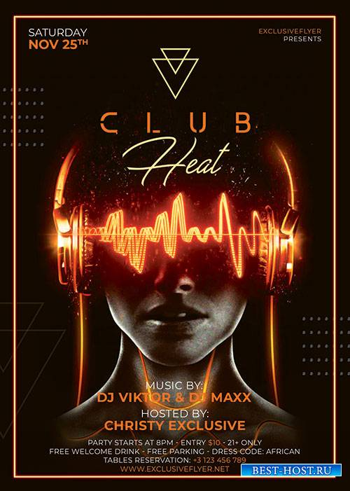 Club heat - Premium flyer psd template