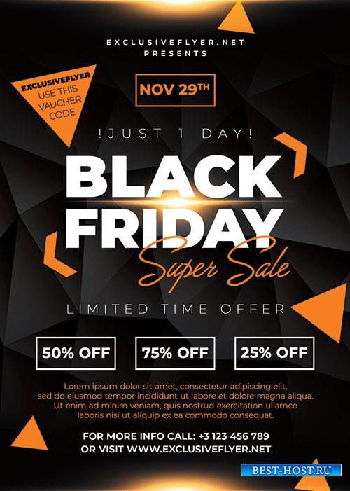 Black friday super sale - Premium flyer psd template