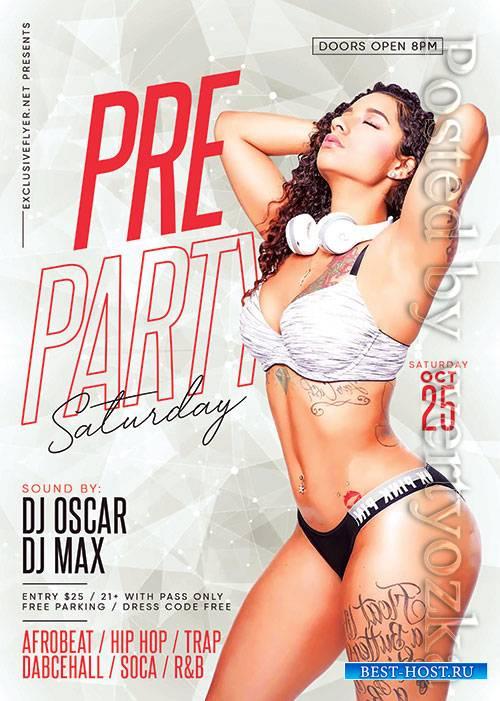Pre party saturday - Premium flyer psd template