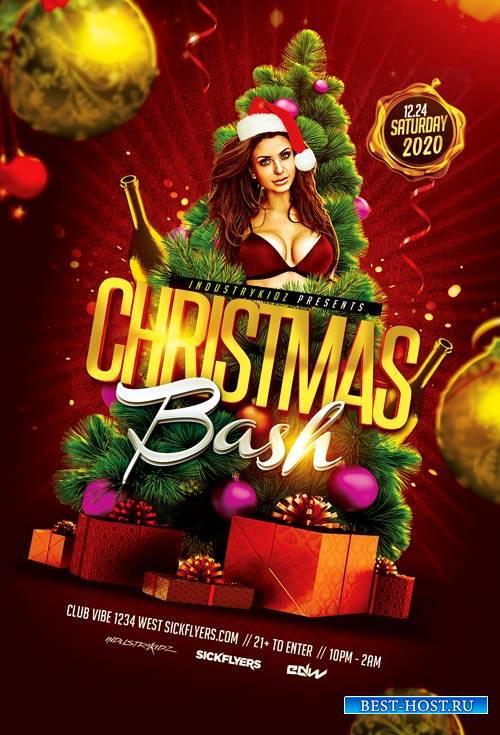 Christmas Bash psd flyer template