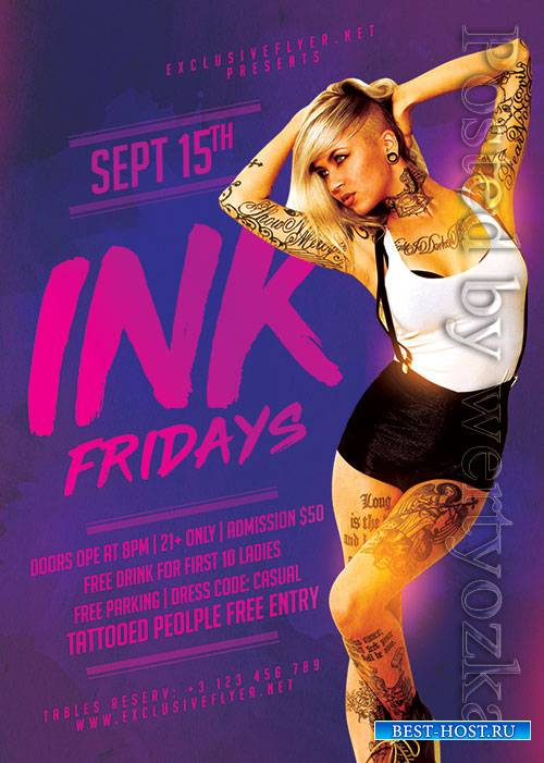 Ink fridays - Premium flyer psd template