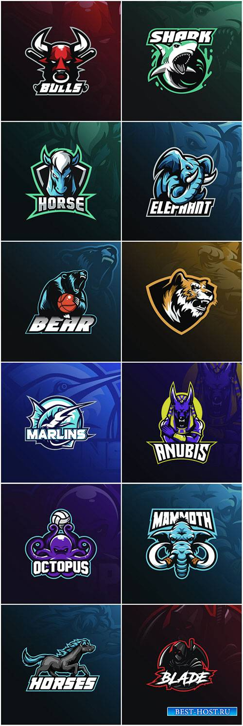 Mascot logo design vector with modern illustration concept style for badge, ...