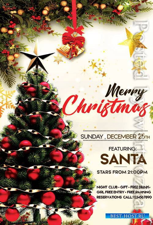 Christmas Day - Premium flyer psd template