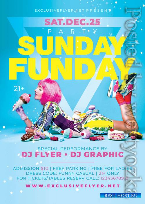Sunday funday party - Premium flyer psd template