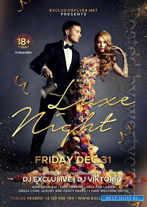 Luxe nights - Premium flyer psd template